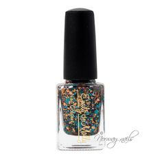 """""""Copper Field"""" is a 3 free hand-blended, custom nail polish.   (Toluene, Formaldehyde and DBP Free)  BASE - Clear.  GLITTER - Copper, bronze, teal, dark purple and lavender.  OPAQUE - N/A (designed to be worn over a base colour)"""
