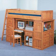 Bunkhouse Twin Roundup Modular Loft Bed by Trendwood