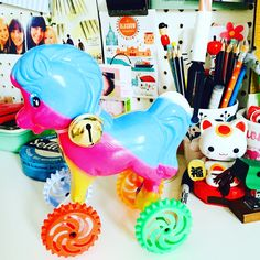 A colourful souvenir from Italy on my desk at home. Souvenirs From Italy, Sweet Home, Desk, Color, Desktop, House Beautiful, Table Desk, Colour, Office Desk