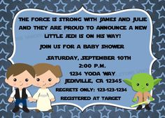 Jedi Star Wars Theme Inspired Baby Shower by vmiddleton5 on Etsy, $10.00