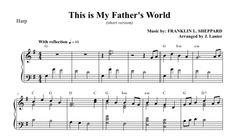 $3.00 Harp Music -This Is My Father's World for Harp (2 versions in 1 PDF!)