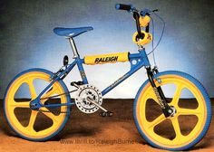 Had one of these when I was 13 and thought I was king of the street. Then my mate got a Mongoose... #RaleighBurner