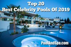 Celebrity Pools - The Best Of 2019 Social Network Movie, Movie Producers, Cool Swimming Pools, Reality Tv Stars, Hot Tubs, Real Housewives, Spas, American Actors, Nice Tops