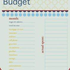 starting our budget this week....I really don't like being on one.  But everything is worth it for our baby! : )