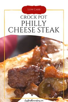 Easy Melt in your Mouth Crock Pot Philly Cheese Steak- 3 NC