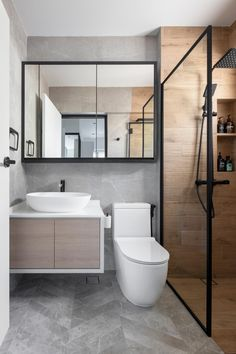 15 Warm and Cosy Bathrooms with Wood Accents Cosy Bathroom, Small Bathroom Interior, Wooden Bathroom, Bathroom Layout, Master Bathroom, Scandinavian Bathroom, Bathroom Plants, Bathroom Small, Bathroom Ideas White