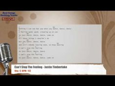 Can't Stop The Feeling - Justin Timberlake Vocal Backing Track with chords and lyrics - YouTube