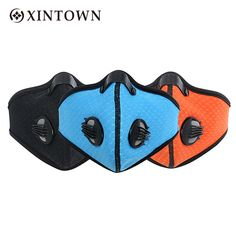 XINTOWN Anti-Pollution Windproof Cycling Masks Mouth Dustproof Bicycle Sport Road Cycling Carbon Filter Half Face Mask Women Men