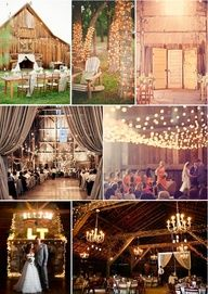 SOOOO wish i could get married in a barn like this, perfect!