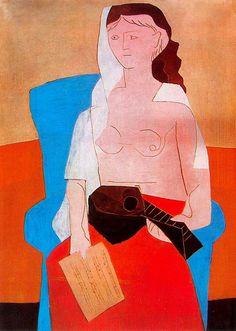 TICMUSart: Woman with mandolin - Pablo Picasso (1925) (I.M.)