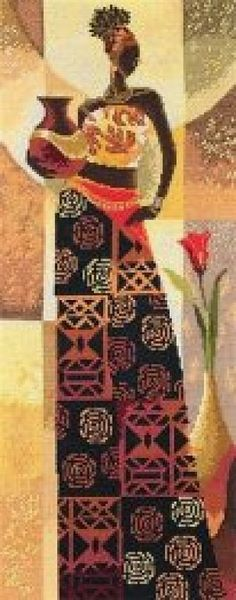 Naima - Counted Cross Stitch Kit More Just Cross Stitch, Counted Cross Stitch Kits, Cross Stitch Charts, Cross Stitch Designs, Cross Stitch Patterns, Cross Stitching, Cross Stitch Embroidery, Cross Stitch Silhouette, African Art Paintings