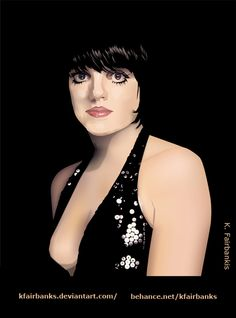 Digital drawing of Liza Minnelli by K. Fairbanks. Media: Illustrator. View additional art by K. Fairbanks at http://graphics.ms11.net/index.html  #Art #DigitalArt #Illustrator #LizaMinnelli #Vector
