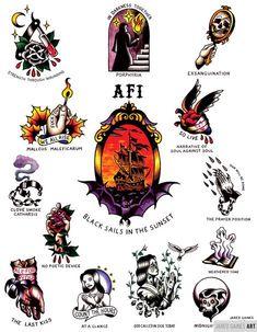 afi tattoo flash black sails in the sunset Large Tattoos, Great Tattoos, Body Art Tattoos, Tattoo Drawings, Tattoos For Guys, Sunset Tattoos, Dibujos Tattoo, Old School Tattoo Designs, Traditional Tattoo Flash