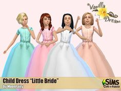 Vanilla Dream Little bride dresses at Everything for your sims via Sims 4 Updates