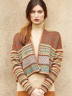 BALFOUR from Rowan Knitting and Crochet Magazine No. Rowan Knitting, Rowan Yarn, Knitting Yarn, Motif Fair Isle, Fair Isle Pattern, Knitting Magazine, Crochet Magazine, Fair Isle Knitting Patterns, Knitting Designs