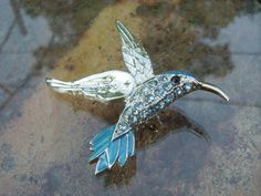 Hey, I found this really awesome Etsy listing at https://www.etsy.com/il-en/listing/190226974/hummingbird-pin-turquoise-swarovski