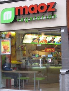 Maoz Falafel in Amsterdam on the Leidsestraat. I miss these sooo much!