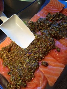 Pistachio Lime Baked Salmon - 5 easy ingredients