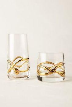 Glimmer-Wrapped Glassware