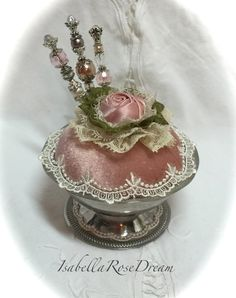 Vintage style pin cushion victorian style by IsabellaRoseDream