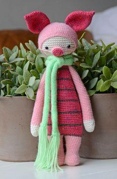 Piglet mod made by Kristel D. / based on a lalylala crochet pattern