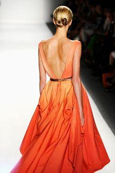 Orange ombre dress #ombreobsession