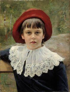 Albert Edelfelt - Portrait of the Artist's Sister Berta Edelfelt 1884