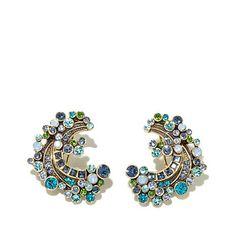 """Heidi Daus """"Ripple Effect"""" Crystal Earrings"""