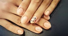 Constellation Manicures Are The Nail Art You Actually Want #refinery29  http://www.refinery29.com/2016/12/131604/constellation-manicures-instagram#slide-5  Aries and Virgo star signs are represented on each ring finger — a mani fitting for an astrology-loving bride....