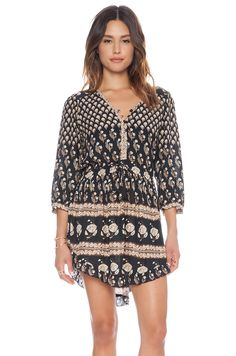 Spell & The Gypsy Collective Bohemian Royale Playdress in Charcoal | REVOLVE