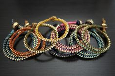 DIY Wrap Bracelet   This is so easy and simple yet so impressive and trendy!!! LOVE it!