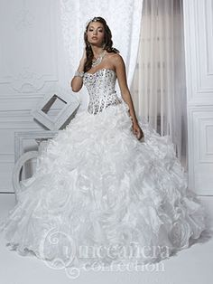 Quinceanera dress -26721 comes in white