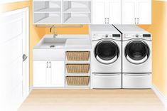 The Beauty of a Utility Room – House Viral Gossip Laundry Room Layouts, Laundry Room Organization, Laundry Room Design, Basement Laundry, Laundry In Bathroom, Small Bathroom, Interior Design Living Room, Living Room Designs, Laundry Shoot