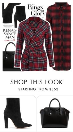 """""""Red plaid"""" by vanjazivadinovic ❤ liked on Polyvore featuring Gianvito Rossi, Givenchy, Tiffany & Co., sammydress and polyvoreeditorial"""