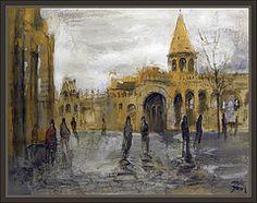 BUDAPEST-CASTILLO-HUNGRIA-BUDA-CASTLE-PINTURA-PAINTINGS-PINTOR-ERNEST DESCALS by Ernest Descals