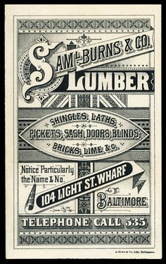 Ornate #typography of the 19th century by King George. #Vintage | Six Pony Hitch