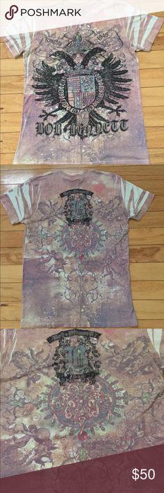 Bob Bennett T-Shirt Size Medium Hello you will receive same item as seen in photos 1 Bob Bennett T-Shirt Size medium  Please note wrinkles due to prepackaging.  #QQ2 Bob Bennett  Shirts Tees - Short Sleeve