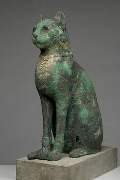 Cat Mummy Case, Egyptian, ca. 700 B.C.