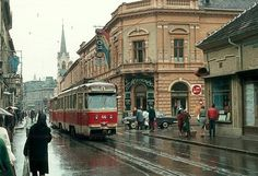 One of the many trams in Oradea Romania Tramway, Buses, Street View, Antique, Country, City, Classic, Places, Beautiful