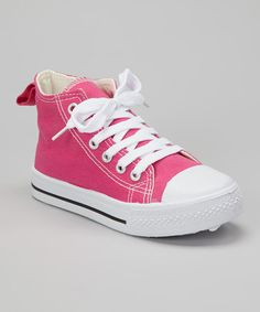 Love this Fuchsia & White Sneaker by Simply Petals on #zulily! #zulilyfinds