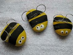 Rock Bees--make for Rosh Hashana - Crafts by Amanda