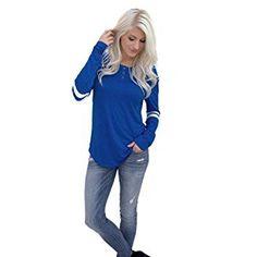 TOOPOOT Women Long Sleeve Pullover Shirt Tops T Shirt (XL, blue1) Review #pulloverwomen