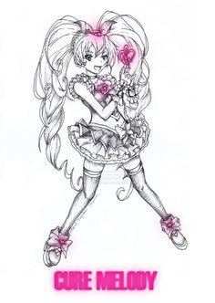 Cure Melody (Suite pretty cure) by aku-no-hana2