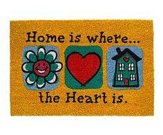 Felpudo Ruco Print Home is where the heart is - 60x40 cm