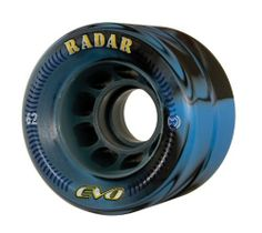 Radar Wheels EVO Roller Skate Wheel,Blue/Black,62 by Riedell. $27.50. Lots of color choices in the latest swirl design from Radar.  EVO wheels feature MDI urethane on a lightweight nylon hub for true performance.