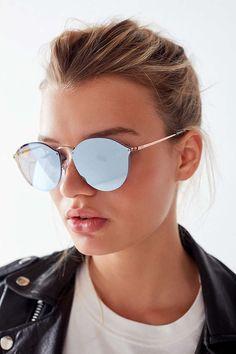 Cool / feminine / trendy // Slide View: 1: Ray-Ban Blaze Round Sunglasses