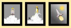 Outer Space Decor, Space Flight Decor, Space Shuttle Prints, Etsy Imagine That Originals