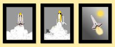 Outer Space Decor, Space Flight Decor, Space Shuttle Prints, Etsy Imagine That Originals