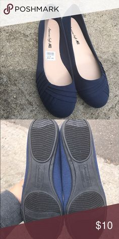 Navy flats Brand new super cute solid navy flats American Eagle by Payless Shoes Flats & Loafers