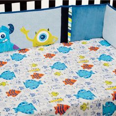 Monsters Inc Crib Set | MONSTERS, INC. Premier Crib Bumper | Disney Baby